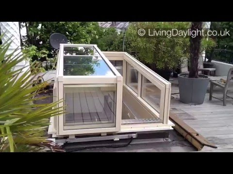 Roof Access Solutions Raised, Slide Open, Semi Retracting, Roof Garden Access  Hatch, Roof Access E