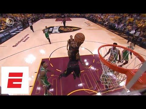 O recital de LeBron James ante os Celtics de Boston