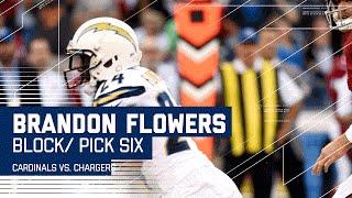 Brandon Flowers Amazing Pick 6! (Preseason) | Cardinals vs. Chargers | NFL