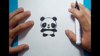 Como dibujar un oso panda paso a paso 4 | How to draw a panda 4