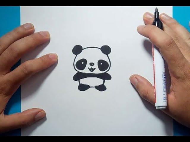 Como Dibujar Un Oso Panda Paso A Paso 4 How To Draw A Panda 4 Youtube