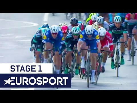 Stage 1 Volta a Catalunya | Leaders Cross the Line + Winner's Interview | Eurosport