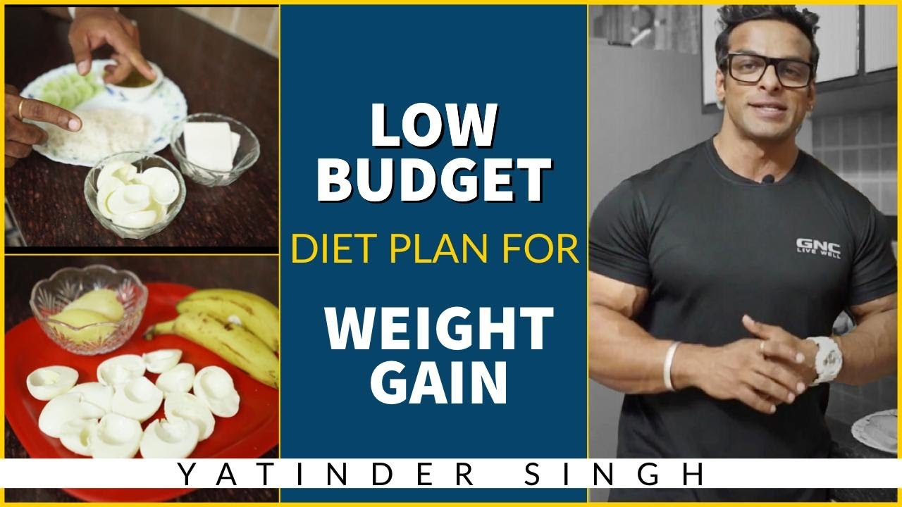 budget meal plan to gain weight
