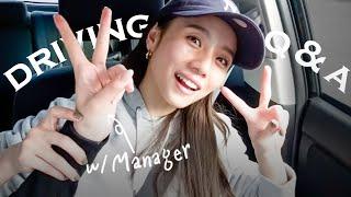 【Vlog】ドライブしながらマネージャーさんとみんなの質問に答えたよ!