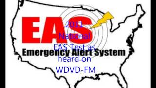 National EAS Test - Nov 9 2011 - Audio Recorded from WDVD-FM