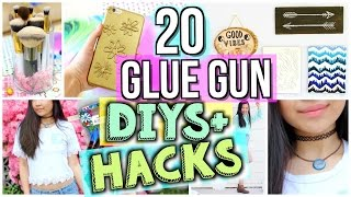 20 Ways to Use a Glue Gun! DIYs and Life Hacks | JENerationDIY