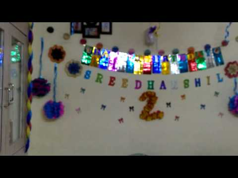 Simple and beautiful birthday decoration at home with less cost
