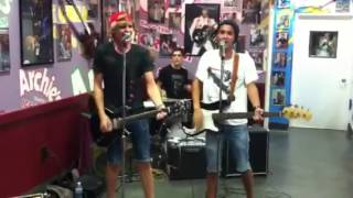 "The A-SYMMETRICS ""Everybody Talks"" by Neon Trees at Archie's Ice Cream in Tustin,Ca - 8/29/13 Thumbnail"
