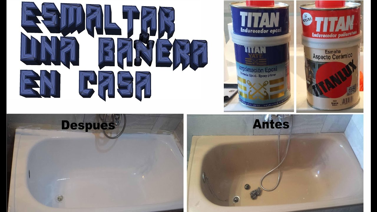 Esmaltar ba era en casa bricolaje facil youtube for Como arreglar una regadera