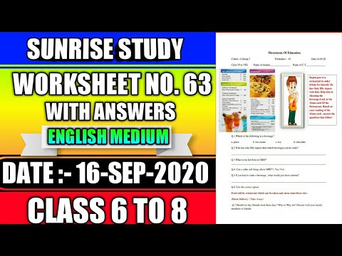 Worksheet no. 63 Class 6 to 8 DOE CBSE NCERT BOOK DELHI