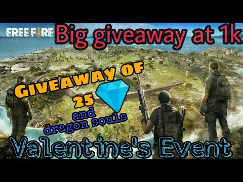 #custom #free fire free fire live//giveaway time//Valentine's week event