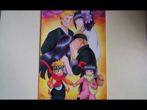 Speed Drawing - Naruto and Hinata [TRIBUTE NARUTO]