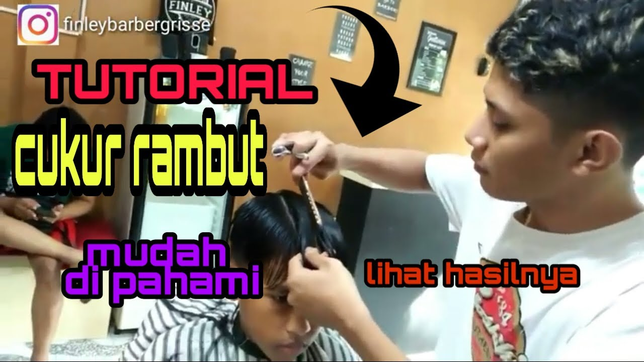 Tutorial side part gaya rambut anak sekolahan - YouTube