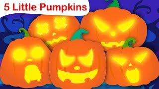 Five Little Pumpkins | Halloween Songs | Nursery Rhymes and Fun Songs for Kids by Little Angel