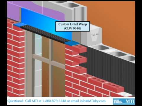 Weeping A Concealed Steel Lintel Or Shelf Angle With