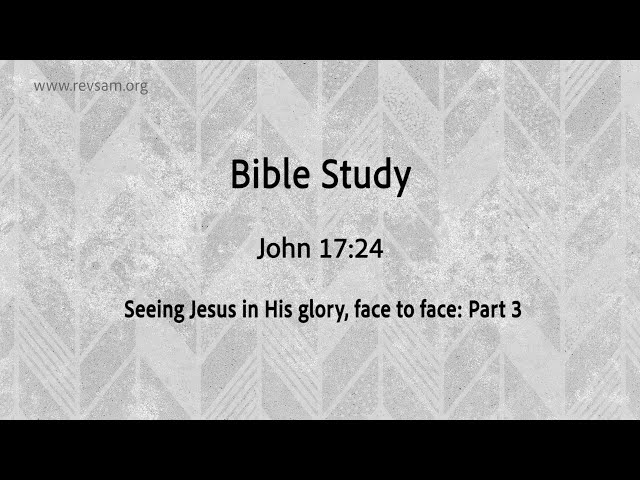Seeing Jesus in His glory, face to face (Part-3) | Jeevan Chelladurai | Tuesday Service | AFT Church