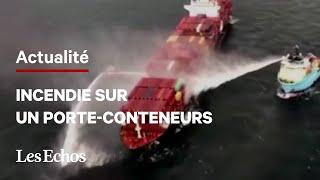 Du gaz toxique dégagé dans l'incendie d'un porte-conteneurs au large du Canada