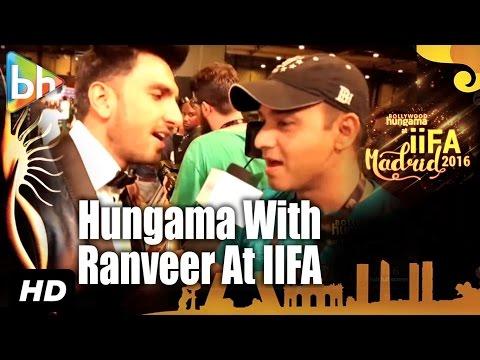 Ranveer Singh Creates HUNGAMA At IIFA Awards, Madrid