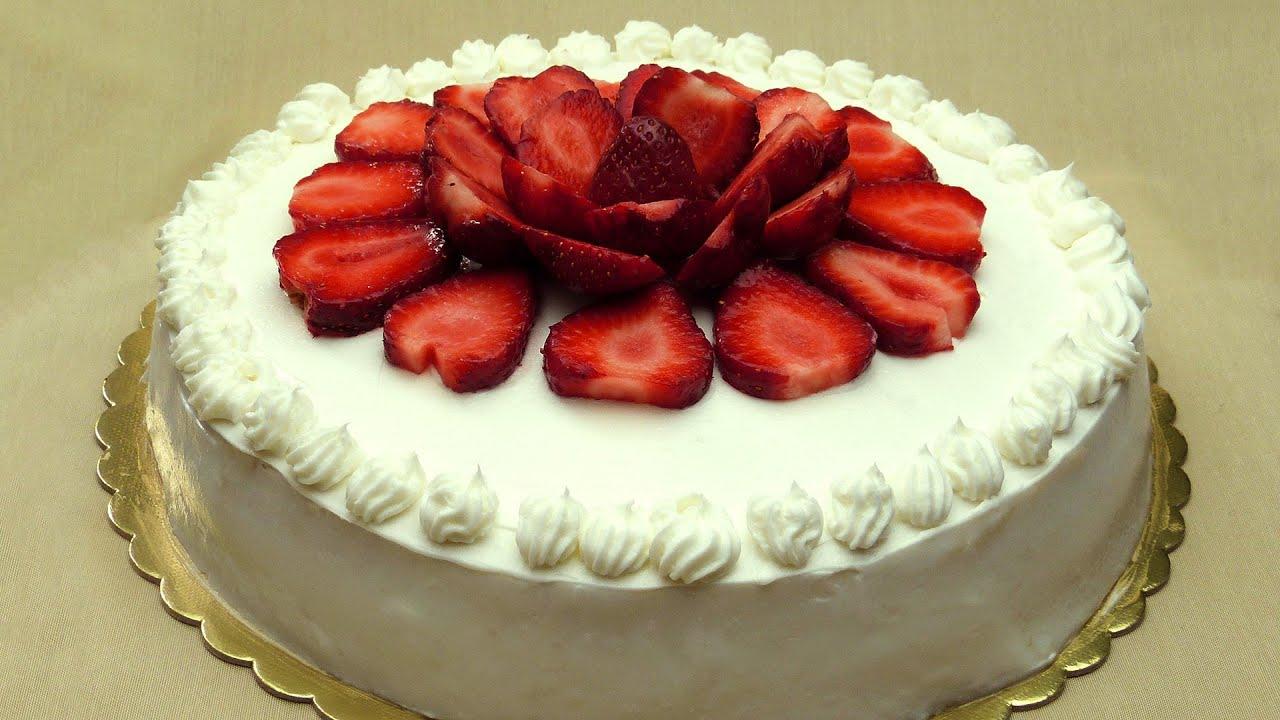 Recette gateau creme et fraise