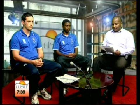Richard and Malindi on Swaziland morning tv