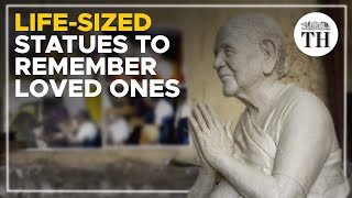Life-sized statues in memory of loved ones