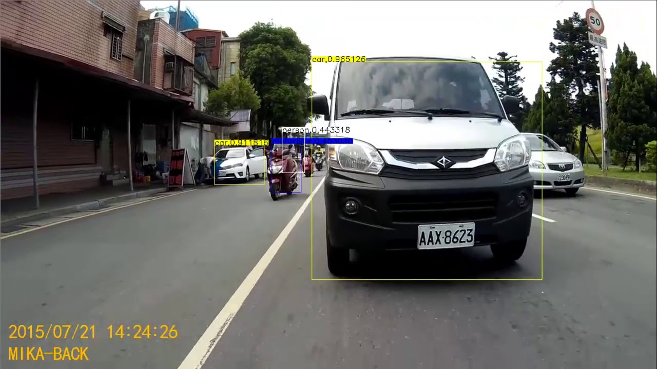 MobilenetV2-SSD vehicle detection
