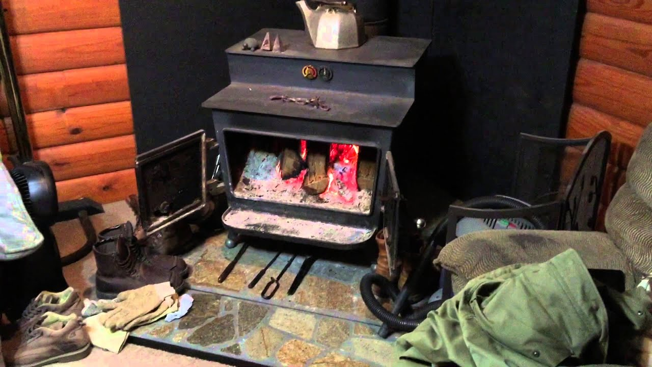 woodsman wood burning fireplace stove pre epa youtube