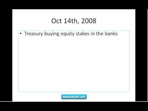 Financial Crisis Timeline Part 3 - TARP and Moral Hazard