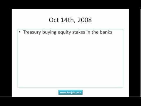 Financial Crisis Timeline Part 3 - TARP and Moral Hazard