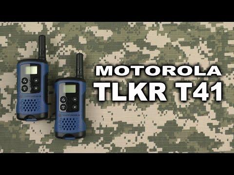 Распаковка Motorola TLKR T41 Blue
