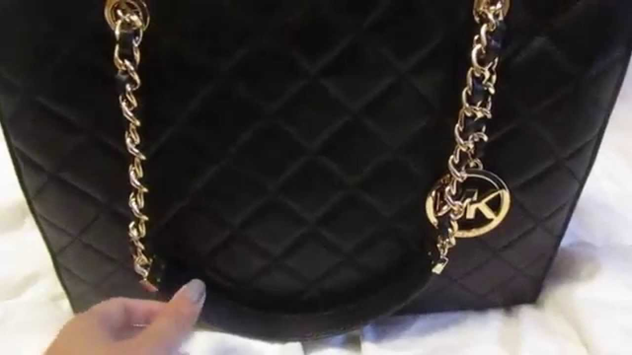 cd5eb6c9af4f New Micheal Kors Large Susannah quilted tote reveal! - YouTube