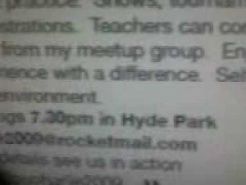Invites flyer to an event help in hyde park  VIP tickets!