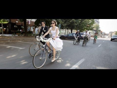 Oana și Silviu - nunta pe biciclete