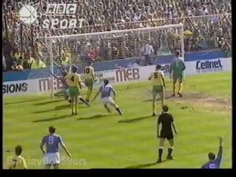 Pat Nevin Goal - Everton v Norwich FA Cup Semi Final 1988 - 89 Villa Park