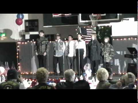"""""""The Marines"""" from Sequoia Middle School's, """"Veteran's Ball"""", February 6, 2010"""
