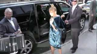 Nicole Richie Fashion Day & Night Out in NYC - Stunned In Floral Dress
