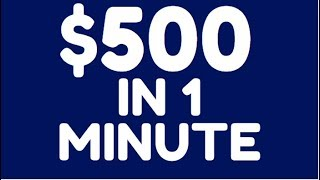 Earn FREE PayPal Money NOW! ($500+ in 1 Minute of Work)