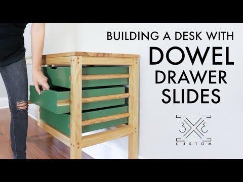 Building a Desk Using Dowels for Drawer Slides // Woodworking // Instagram Builders Challenge