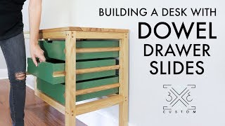 Building a Desk Using Dowels for Drawer Slides // Woodworking // Instagram Builders Challenge