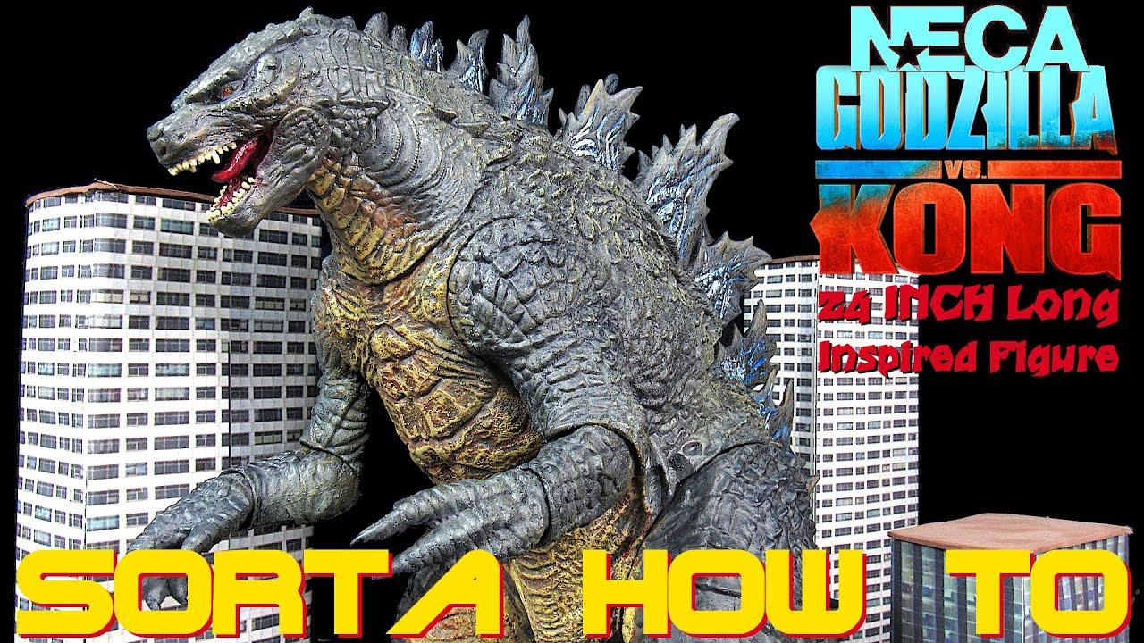 "Custom NECA Godzilla VS Kong Godzilla 2021 24"" Long 3D Printed Spines Inspired Figure - Sorta How To"