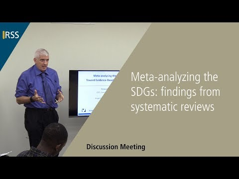 Meta-analyzing the SDGs: findings from systematic reviews