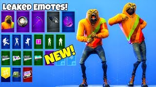 *NEW* Leaked EMOTES with Doggo the Pug SKIN..! (Showcase) Fortnite Battle Royale