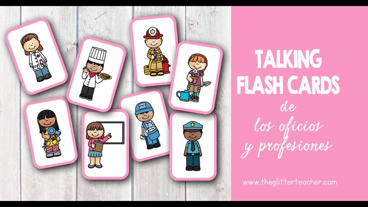 Tarjetas De Vocabulario Y Talking Flash Cards De Los Trabajos The