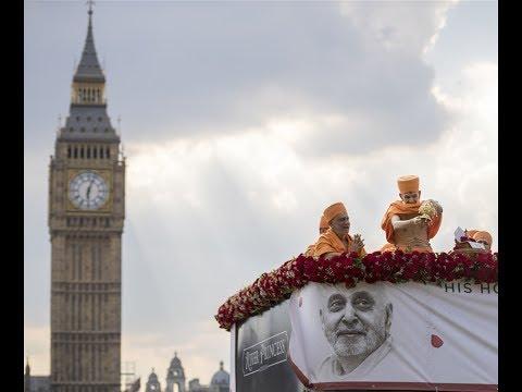 HH Pramukh Swami Maharaj's Asthipushpa Visarjan, London, UK