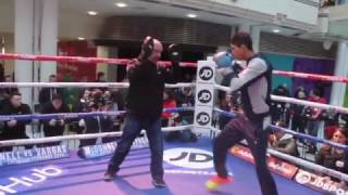 REY VARGAS OUT TO SHATTER GAVIN McDONNELL'S WORLD TITLE DREAM - FULL PAD WORKOUT FOOTAGE IN HULL