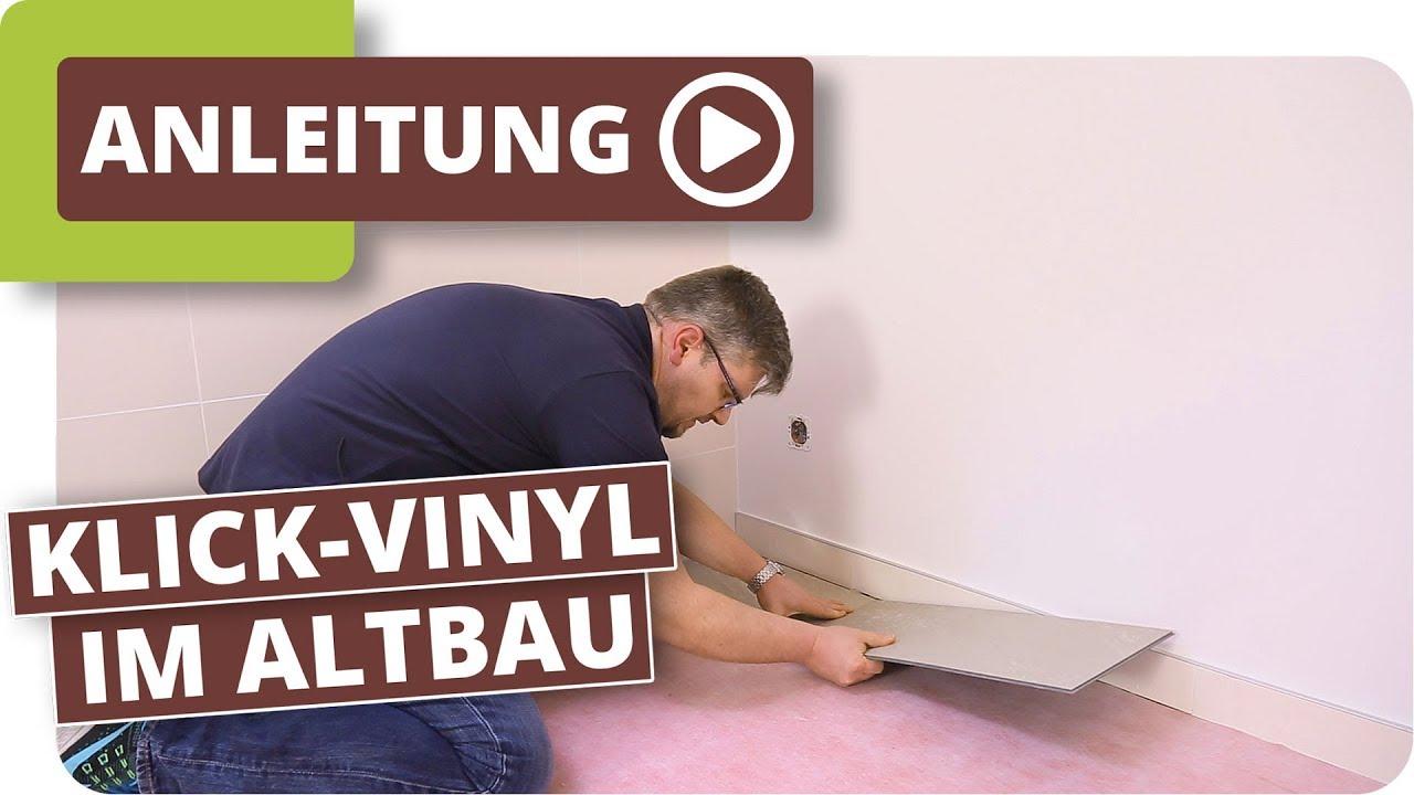 Klick vinyl im altbau bodenbelag im badezimmer verlegen youtube