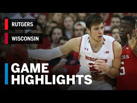 Wisconsin Badgers - Highlights: MBB: Wisconsin rallies, downs Rutgers 69-64