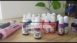 Resin Basics - How To Colour Resin | Seriously Creative Resin Tutorial