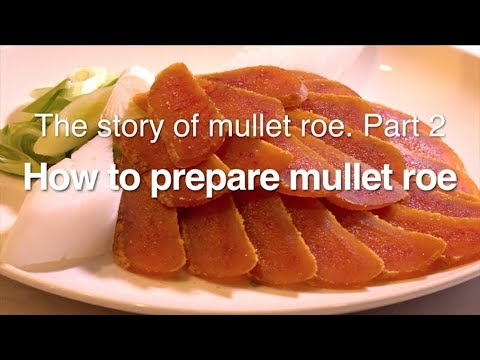 【Taiwanese Cuisine】How To Prepare Mullet Roe