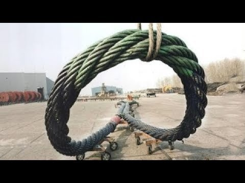 HYPNOTIC Video Heavy Engineering Inside Extreme Manufacturing Plants Steel Wire Rope Slings Factory